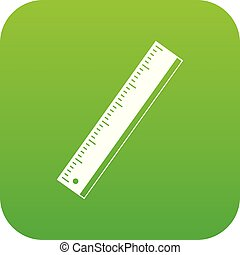 Yardstick icon digital green for any design isolated on white vector illustration