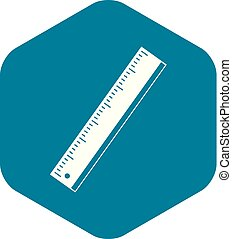 Yardstick icon. Simple illustration of yardstick vector icon for web