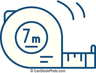 Yardstick line concept icon. Yardstick flat vector website sign, outline symbol, illustration.