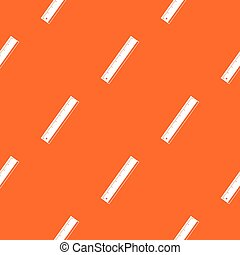 Yardstick pattern repeat seamless in orange color for any design. Vector geometric illustration