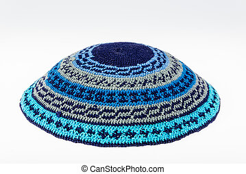 Yarmulke - traditional Jewish headwear isolated on white
