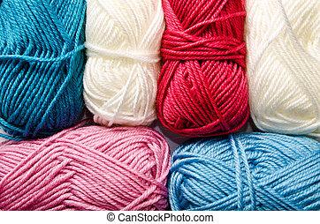 yarn background - a lot of yarn as a background