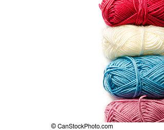 yarn background - yarn isolated on a white background