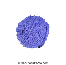 yarn ball isolated with path