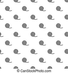 Yarn ball toy for cat pattern vector