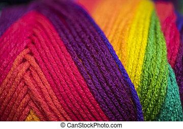 Yarn in Vibrant Colors - Skein of yarn in vibrant colors