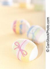 Yarn wrapped Easter eggs - Custom handmade yarn wrapped ...