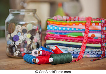 Yarns and fabric used in needlework