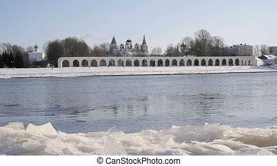 Yaroslav courtyard in Veliky Novgorod, Russia - Yaroslav...