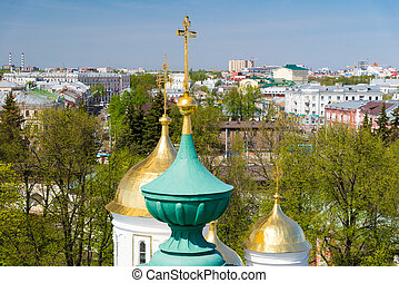 Yaroslavl aerial view. Golden ring of Russia