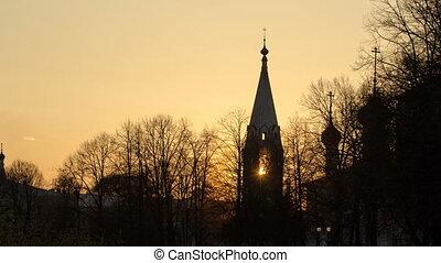 Yaroslavl, Church of St. Nicholas the Wet Mokry at sunset...