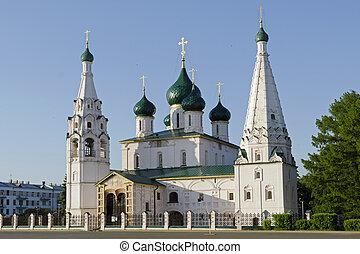 The Church of St. Ilya the Prophet in Yaroslavl, Russia; built in 17th century