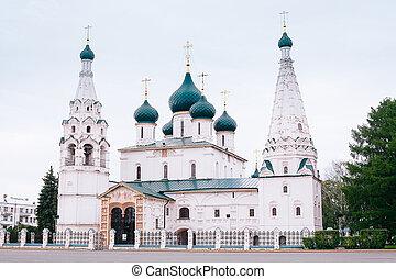 Yaroslavl, Russia, the church of Elijah the Prophet (Ilia Prorok) in Yaroslavl