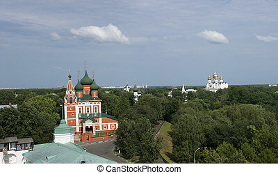Yaroslavl. View from the bell tower.
