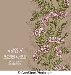 yarrow vector background - yarrow flowers vector pattern on ...