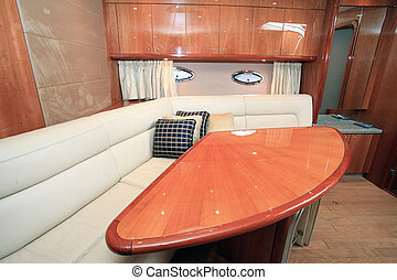 Yatch - A luxury yacht living room - Luxury concept