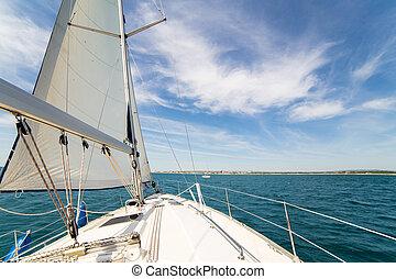 Yatch sail and desk