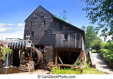 Yates grist mill - Historic Yates grist mill in North...