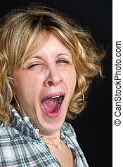 yawn girl