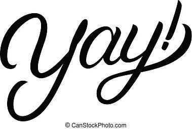 Yay! hand written lettering.