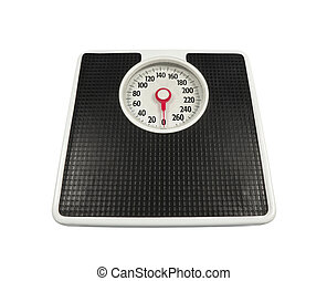 Ye Old Scale - Old, worn bathroom scale ready to deliver the...