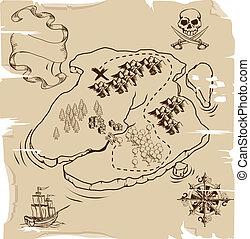 ye, schatz, olde, pirat diagramm