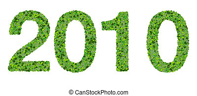 Year 2010, date made from leaves