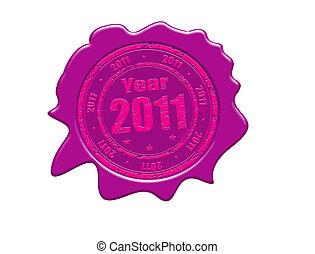 Year 2011 wax seal