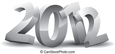 Year 2012 on white background