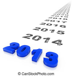 Year 2013 - New year 2013 and the years ahead. Part of a...