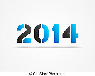 year 2014 blue poster