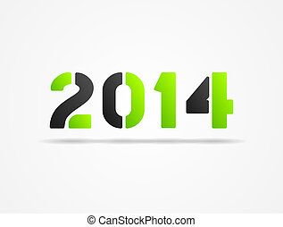 year 2014 green poster