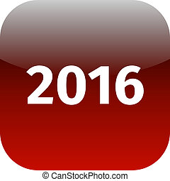 year 2016 red icon