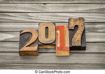 year 2017 in letterpress wood type