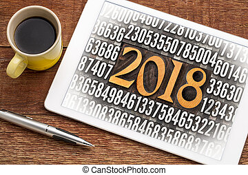 year 2018 in letterpress type