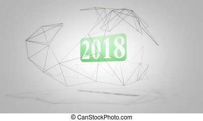 Year 2018 - New Years Eve 2018. New year concept intro outro...