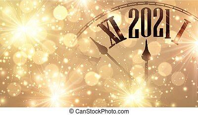 year., mains, peu, minutes, horloge, projection, 2021