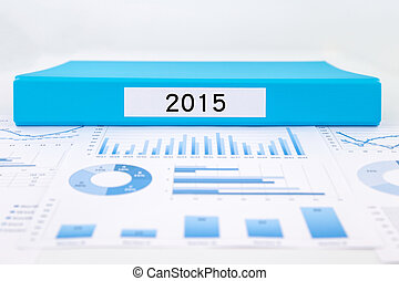Year number 2015, graphs, charts and financial analysis reports