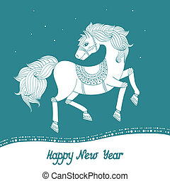 Year of Horse - 2014 year of the horse, happy new year...