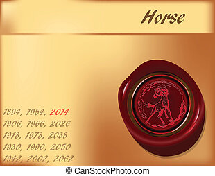 Year of Horse - background