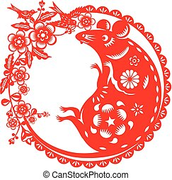 Year of Mouse rat icon illustration
