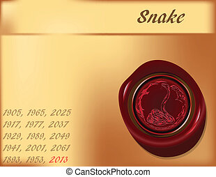 Year of Snake - background
