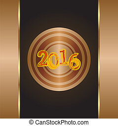 Islamic new year greeting card wishing you happy new year in arabic year of the monkey 2016 gold greeting card new year letter on a grunge m4hsunfo