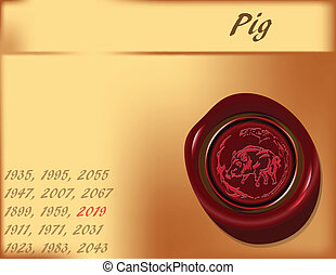 Year of the Pig - background