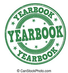 "An image of a stamp with the word ""Yearbook"""