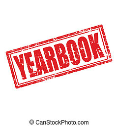 Yearbook-stamp - Grunge rubber stamp with word...
