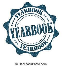 Yearbook stamp - Yearbook grunge rubber stamp on white,...