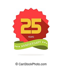 Years 25 anniversary vector label logo badge