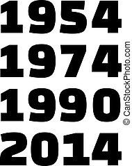 Years of Germany soccer world cup winner