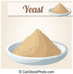 Yeast. Detailed Vector Icon. Series of food and drink and...